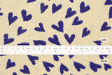 Japanese Fabric Hearts Canvas - blue - 50cm