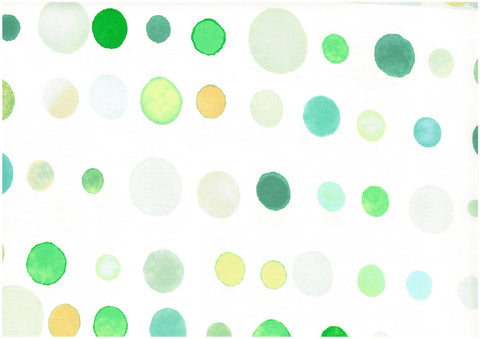 Japanese Fabric Kokka 3 min. dot - green - 50cm