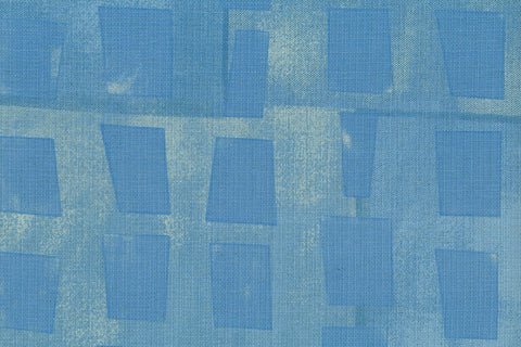 Japanese Fabric Kokka 3 min. window - blue - 50cm