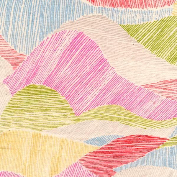 Japanese Fabric Nani Iro Mountain Views double gauze - I - 50cm