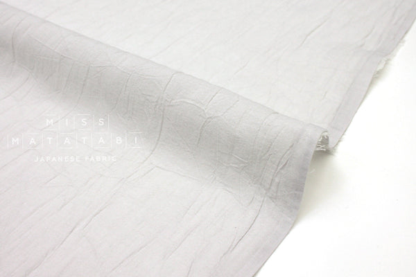 Japanese Fabric Washed Voile Solids - light grey - 50cm