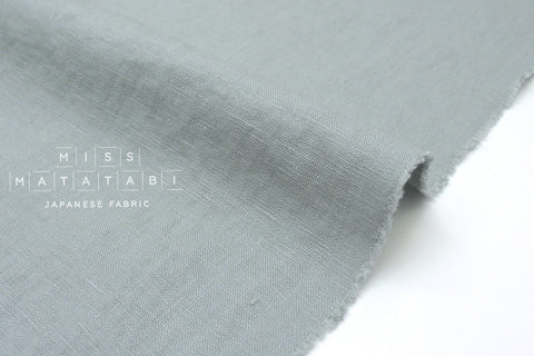 Japanese Fabric 100% washed linen - antique blue -  50cm