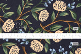 Cotton + Steel Wildwood canvas - peonies blue - 50cm