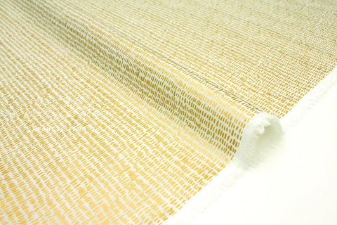 Cotton + Steel Wildwood lawn - hatch marks metallic gold, cream - 50cm