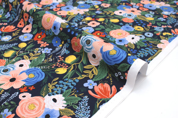 Cotton + Steel Wildwood - garden party navy - 50cm