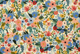 Cotton + Steel Wildwood canvas - garden party blue - 50cm