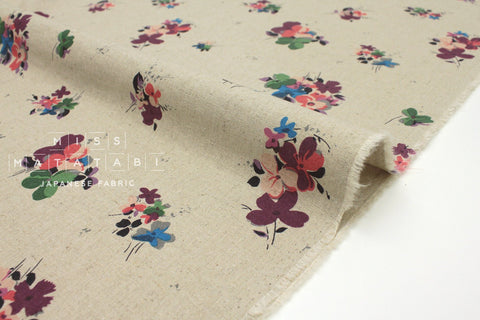 Japanese Fabric Posy - pink, red, green - 50cm