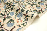 Cotton + Steel Wildwood canvas - peonies cream laminated - 50cm