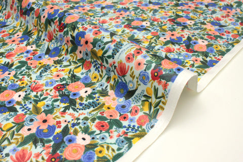 Cotton + Steel Wildwood - petite garden party blue laminated  - 50cm