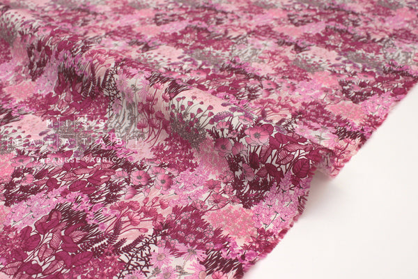 Japanese Fabric wonder forest lawn - pink - 50cm