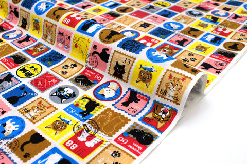 Japanese Fabric Cat Stamps - 50cm