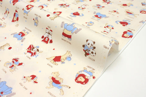 Japanese Fabric Kokka Sports - cream - fat quarter