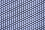 Japanese Fabric Embroidered Eyelet Circles - blue - 50cm