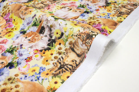 Japanese Fabric Kokka Cat Paradise - 50cm