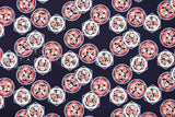Japanese Fabric Dobby SAkura Mon - navy, red, cream - 50cm