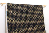 Japanese Fabric Cotton + Steel Neko and Tori Canvas - Penpengusa - black metallic - fat quarter