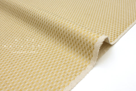 Japanese Fabric Cotton + Steel Basics Canvas - Mishmesh - gold metallic - fat quarter