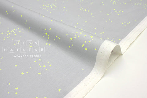 Japanese Fabric Cotton + Steel Basics - Freckles - shine on neon - 50cm