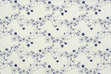 Japanese Fabric Kokka Flower Chain lawn - blue - 50cm