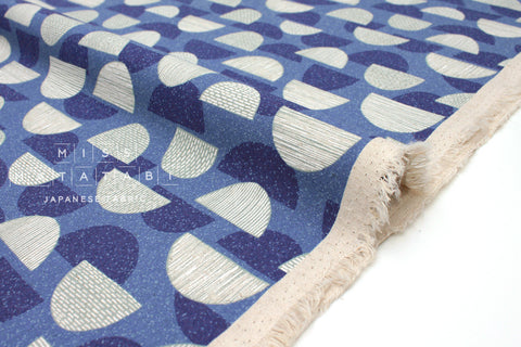 Japanese Fabric Kokka Trefle Mountains - blue - fat quarter
