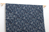 Japanese Fabric Wild Waves II dobby - indigo blue - 50cm