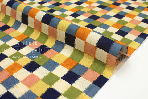 Japanese Fabric Dobby Wa Check - B - 50cm