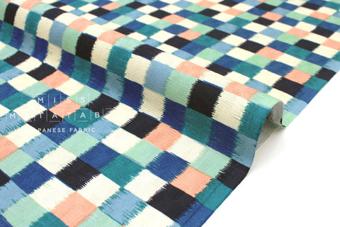 Japanese Fabric Dobby Wa Check - E - 50cm