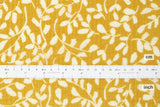 Japanese Fabric Leafy Seersucker lawn - yellow - 50cm