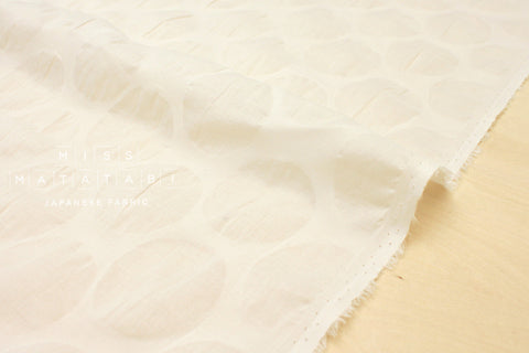 Japanese Fabric Big Dots Enshuku lawn - cream - 50cm