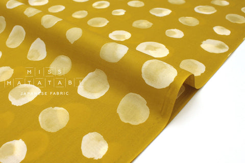 Japanese Fabric Kokka Watercolor Dots - mustard - 50cm