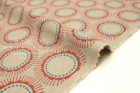 Cotton + Steel Kibori canvas - Tara - red -  fat quarter