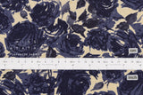 Japanese Fabric Kokka Roses - blue, natural - 50cm