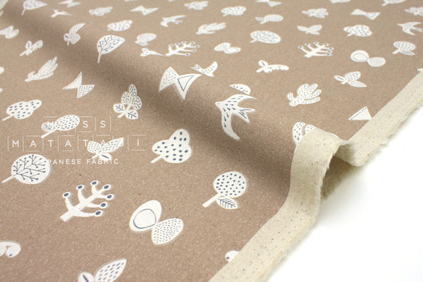 Japanese Fabric Kokka Trefle Brooches - clay - 50cm