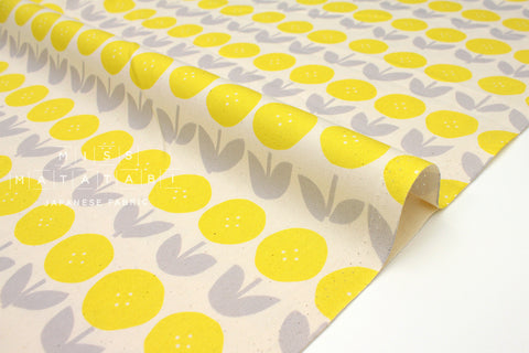 Japanese Fabric Kokka Trefle Tulips - yellow - fat quarter