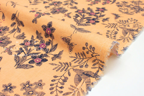 Japanese Fabric Cottage Floral - apricot - 50cm