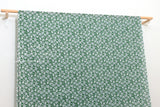 Japanese Fabric Windy Floral Cotton Lawn - green - 50cm