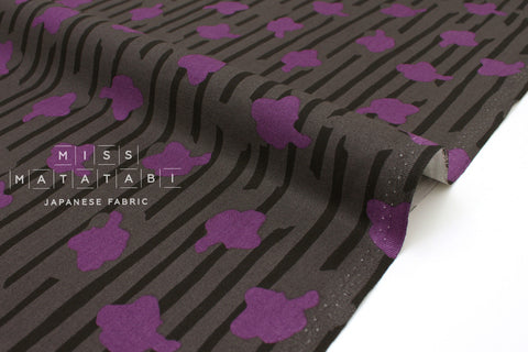 Japanese Fabric In The Woods - grey, lilac - 50cm