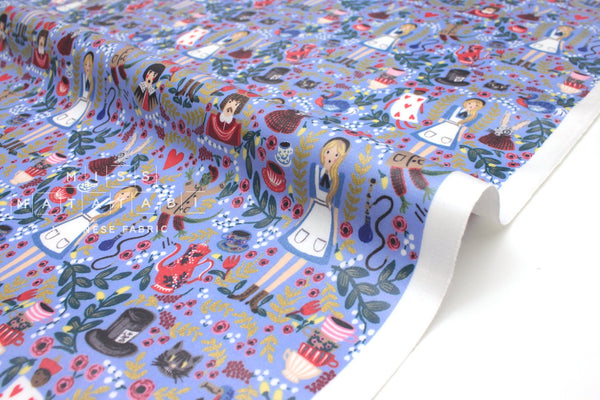 Cotton + Steel Wonderland - wonderland laminated - periwinkle metallic - fat quarter