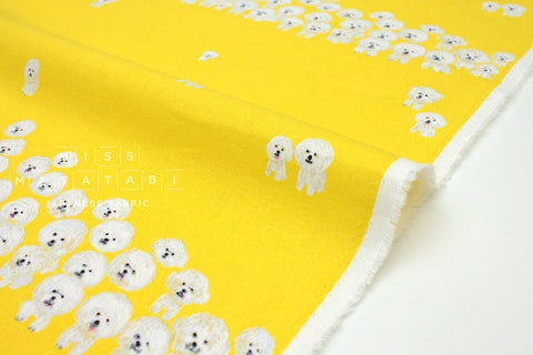 Japanese Fabric Kotorinuno Bichon - yellow - 50cm