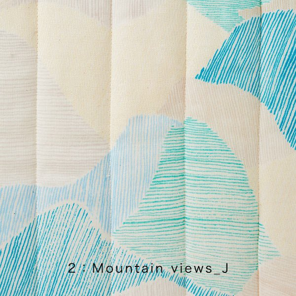 Japanese Fabric Nani Iro Mountain Views quilted double gauze - I - 50cm