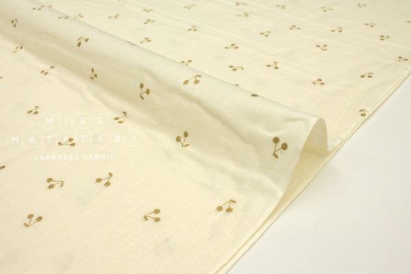 Japanese Fabric Kobayashi Cherry Double Gauze -  cream, metallic gold - 50cm