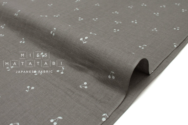 Japanese Fabric Kobayashi Cherry Double Gauze -  grey, metallic silver - 50cm
