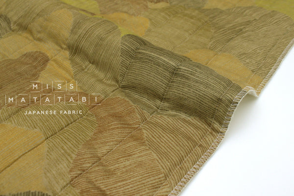 Japanese Fabric Nani Iro Mountain Views quilted double gauze - K - 50cm