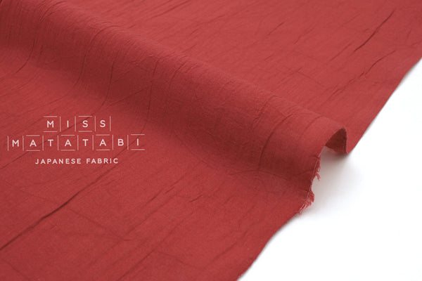 Japanese Fabric Washed Voile Solids - red - 50cm