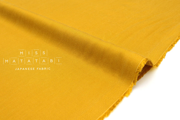 Japanese Fabric Rexcell Twill - mustard - 50cm