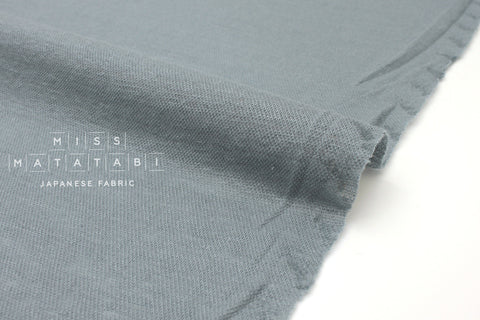 Japanese Fabric 100% Linen Knit - grey blue - 50cm