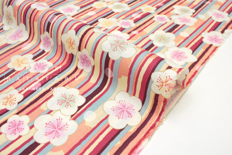 Japanese fabric Ume Rain - pink, peach - 50cm