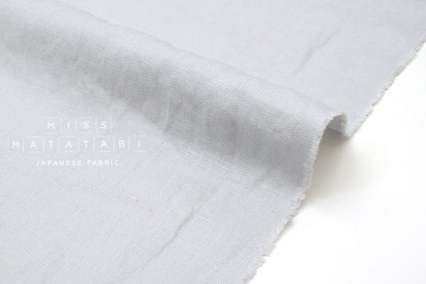 Japanese Fabric 100% washed linen - light grey -  50cm