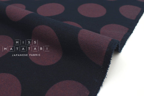 Japanese Fabric Cozy Dots - navy, mauve - 50cm