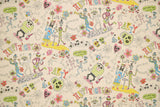 Japanese Fabric Kei Fabric Miyako Happy Nights - natural, multi - 50cm
